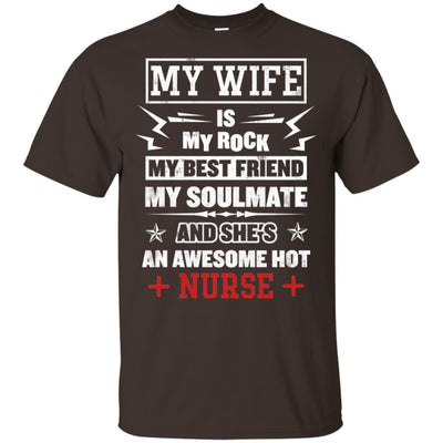 BigProStore My Wife Is An Awesome Hot Nurse Cute Nursing Shirt Funny Quote Design G200 Gildan Ultra Cotton T-Shirt / Dark Chocolate / S T-shirt