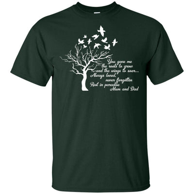 BigProStore I Miss My  Mom and Dad T-shirt Love Daddy Mommy in Heaven Gift Idea G200 Gildan Ultra Cotton T-Shirt / Forest / S T-shirt