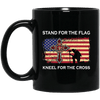BigProStore Firefighter Coffee Mug Stand For The Flag Kneel For The Cross BM11OZ 11 oz. Black Mug / Black / One Size Coffee Mug