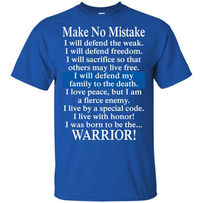 BigProStore Make No Mistake Thin Blue Line T-Shirt Police Officer Cop Tee Gift G200 Gildan Ultra Cotton T-Shirt / Royal / S T-shirt