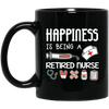 BigProStore Nurse Mug Happiness Is Being A Retired Nurse Gifts BM11OZ 11 oz. Black Mug / Black / One Size Coffee Mug