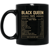 BigProStore Black Queen Facts African American Afro Girl Melanin Women Coffee Mug BM11OZ 11 oz. Black Mug / Black / One Size Coffee Mug