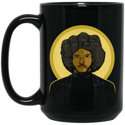 BigProStore Afro Pride Coffee Mug African American Cup Pro Black Women Men Design BM15OZ 15 oz. Black Mug / Black / One Size Coffee Mug