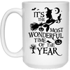 BigProStore Mermaid Mug It's The Most Wonderful Time Of The Year Halloween Gifts 21504 15 oz. White Mug / White / One Size Coffee Mug