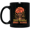 BigProStore Black Beautiful Brave And Blessed African American Melanin Coffee Mug BM11OZ 11 oz. Black Mug / Black / One Size Coffee Mug