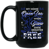 BigProStore Mermaid Mug My Home Is The Open Sea Where Stars Shine Brighter BM15OZ 15 oz. Black Mug / Black / One Size Coffee Mug