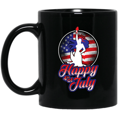 BigProStore Happy 4Th Of July Mermaid Coffee Mug Cool Independence Day Gift BM11OZ 11 oz. Black Mug / Black / One Size Coffee Mug