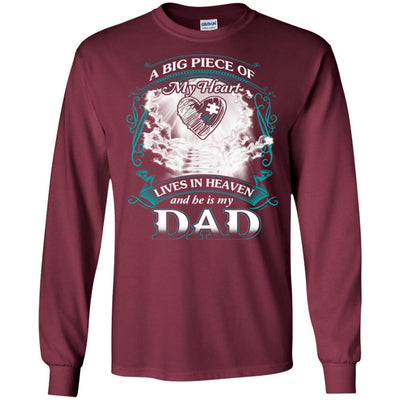 BigProStore Remembering Dad On His Death Anniversary Gift Missing Daddy T-Shirt G240 Gildan LS Ultra Cotton T-Shirt / Maroon / S T-shirt