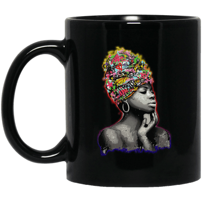 BigProStore African American Pro Black Queens Mug For Melanin Women Men Afro Girl BM11OZ 11 oz. Black Mug / Black / One Size Coffee Mug