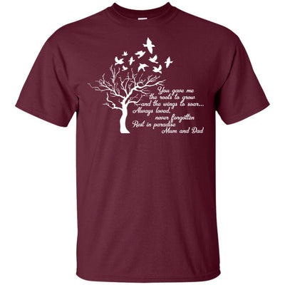 BigProStore I Miss My  Mom and Dad T-shirt Love Daddy Mommy in Heaven Gift Idea G200 Gildan Ultra Cotton T-Shirt / Maroon / S T-shirt