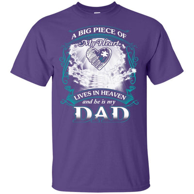 BigProStore Remembering Dad On His Death Anniversary Gift Missing Daddy T-Shirt G200 Gildan Ultra Cotton T-Shirt / Purple / S T-shirt