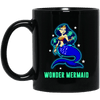 BigProStore Wonder Mermaid Coffee Mug Gift Idea For Women Girls BM11OZ 11 oz. Black Mug / Black / One Size Coffee Mug
