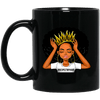 BigProStore #Respectmyhair Cup Respect My Hair Pretty Black Girl Melanin Women Mug BM11OZ 11 oz. Black Mug / Black / One Size Coffee Mug