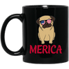 BigProStore Merica Pug Mug Amazig 4th July Pug Gifts For Puggy Puppies Lover BM11OZ 11 oz. Black Mug / Black / One Size Coffee Mug