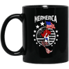 BigProStore Mermerica Mermaid Coffee Mug Independence Day 4Th July Women Gifts BM11OZ 11 oz. Black Mug / Black / One Size Coffee Mug