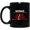 BigProStore Funny Mermaid Hated By Many Loved By Plenty Heart On Sleeve Coffee Mug BM11OZ 11 oz. Black Mug / Black / One Size Coffee Mug