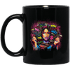 BigProStore Black Is Beautiful Afro Girl Coffee Mug Melanin Poppin Women Cup Design BM11OZ 11 oz. Black Mug / Black / One Size Coffee Mug
