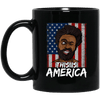 BigProStore This Is America African American Pride Coffee Mug Pro Black Women Men BM11OZ 11 oz. Black Mug / Black / One Size Coffee Mug
