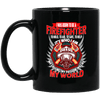 BigProStore Firefighter Coffee Mug I Was Born To Be A Firefighter Cup Firemen Gift BM11OZ 11 oz. Black Mug / Black / One Size Coffee Mug