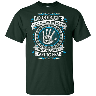 BigProStore Dad And Daughter Heart To Heart Forever T-Shirt Death Anniversary Gift G200 Gildan Ultra Cotton T-Shirt / Forest / S T-shirt
