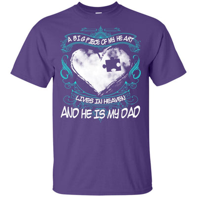 BigProStore Missing Daddy Quotes Big Piece Of My Heart In Heaven Is My Dad T-Shirt G200 Gildan Ultra Cotton T-Shirt / Purple / S T-shirt