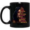 BigProStore I Am Black Woman Beautiful Magic Intelligent Afro Girl Rock Coffee Mug BM11OZ 11 oz. Black Mug / Black / One Size Coffee Mug