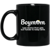 BigProStore Boymom Mug Less Drama Than Girls But Harder To Keep Alive African Cup BM11OZ 11 oz. Black Mug / Black / One Size Coffee Mug