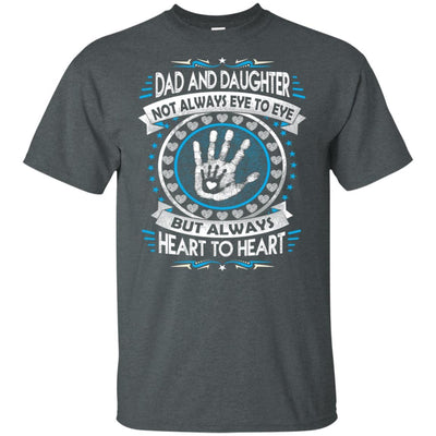 BigProStore Dad And Daughter Heart To Heart Forever T-Shirt Death Anniversary Gift G200 Gildan Ultra Cotton T-Shirt / Dark Heather / S T-shirt