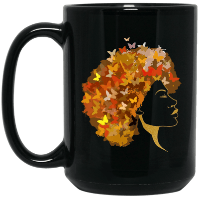BigProStore Art Black Women Mug African Coffee Cup For Pro Black Pride Afro Girl BM15OZ 15 oz. Black Mug / Black / One Size Coffee Mug