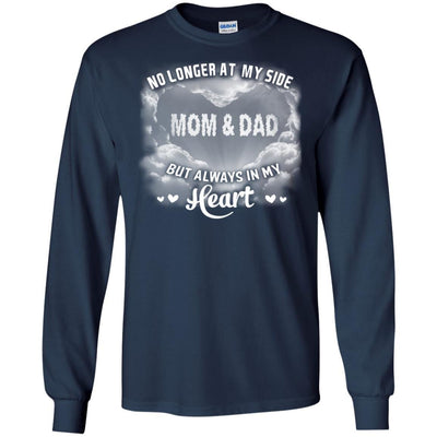 BigProStore My Parents Are My Angel In Heaven T-Shirt Birthday In Heaven Wishes G240 Gildan LS Ultra Cotton T-Shirt / Navy / S T-shirt