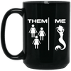 BigProStore Mermaid Coffee Mug Funny Gift Idea For Girls Women BM15OZ 15 oz. Black Mug / Black / One Size Coffee Mug