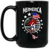 BigProStore Mermerica Mermaid Coffee Mug Independence Day 4Th July Women Gifts BM15OZ 15 oz. Black Mug / Black / One Size Coffee Mug