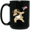 BigProStore Pug Dabbing Mug Independence 4th July Pug Gifts Puggy Puppies Lover BM15OZ 15 oz. Black Mug / Black / One Size Coffee Mug
