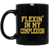 BigProStore Flexing In My Complexion Coffee Mug African Cup For Melanin Women BM11OZ 11 oz. Black Mug / Black / One Size Coffee Mug