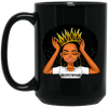 BigProStore #Respectmyhair Cup Respect My Hair Pretty Black Girl Melanin Women Mug BM15OZ 15 oz. Black Mug / Black / One Size Coffee Mug