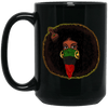 BigProStore Black Girl Magic Coffee Mug African Melanin Pride Afro Girl Cup Design BM15OZ 15 oz. Black Mug / Black / One Size Coffee Mug