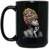 BigProStore African American Pro Black Queens Mug For Melanin Women Men Afro Girl BM15OZ 15 oz. Black Mug / Black / One Size Coffee Mug
