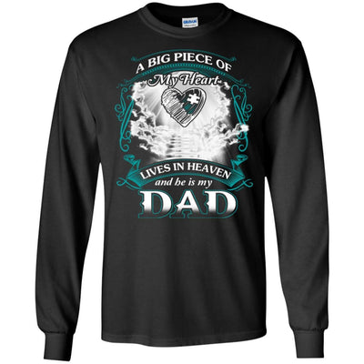 BigProStore Remembering Dad On His Death Anniversary Gift Missing Daddy T-Shirt G240 Gildan LS Ultra Cotton T-Shirt / Black / S T-shirt