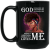 BigProStore God Designed Created Blesses Heals Defend Forgives Loves Pro Black Mug BM15OZ 15 oz. Black Mug / Black / One Size Coffee Mug