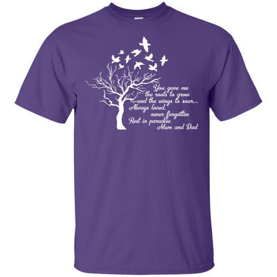 BigProStore I Miss My  Mom and Dad T-shirt Love Daddy Mommy in Heaven Gift Idea G200 Gildan Ultra Cotton T-Shirt / Purple / S T-shirt
