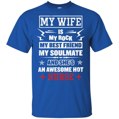 BigProStore My Wife Is An Awesome Hot Nurse Cute Nursing Shirt Funny Quote Design G200 Gildan Ultra Cotton T-Shirt / Royal / S T-shirt