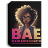 "BigProStore African American Canvas Art Beautiful BAE Black And Educated Girl Black History Canvas Art Living Room Decor CANPO15 Deluxe Portrait Canvas 1.5in Frame / Black / 8"" x 12"" Apparel"