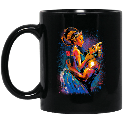 BigProStore African American Melanin Queen Coffee Mug For Pro Black People Pride BM11OZ 11 oz. Black Mug / Black / One Size Coffee Mug