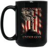 BigProStore Nurse Mug One Nation Under God America Flag Cool Nursing Gifts BM15OZ 15 oz. Black Mug / Black / One Size Coffee Mug
