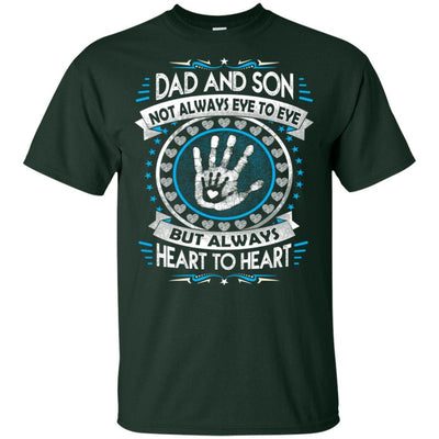 BigProStore Dad And Son Heart To Heart Forever T-Shirt Cool Father's Day Gift Idea G200 Gildan Ultra Cotton T-Shirt / Forest / S T-shirt