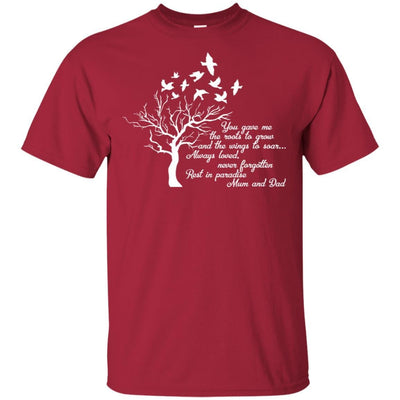 BigProStore I Miss My  Mom and Dad T-shirt Love Daddy Mommy in Heaven Gift Idea G200 Gildan Ultra Cotton T-Shirt / Cardinal / S T-shirt