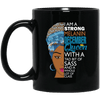 BigProStore I Am A Strong Melanin December Queen Coffee Mug BM11OZ 11 oz. Black Mug / Black / One Size Coffee Mug