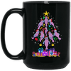 BigProStore Manatee Christmas Tree Cool Chubby Mermaid Mug BM15OZ 15 oz. Black Mug / Black / One Size Coffee Mug
