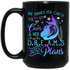 BigProStore Mermaid Mug She Turned Her Can't Into Cans Her Dreams Into Plans BM15OZ 15 oz. Black Mug / Black / One Size Coffee Mug