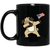 BigProStore Pug Dabbing Mug Independence 4th July Pug Gifts Puggy Puppies Lover BM11OZ 11 oz. Black Mug / Black / One Size Coffee Mug